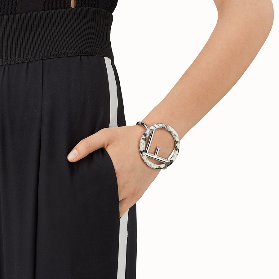 FENDI F IS FENDI BRACELET - Gray elaphe bracelet - view 2 detail