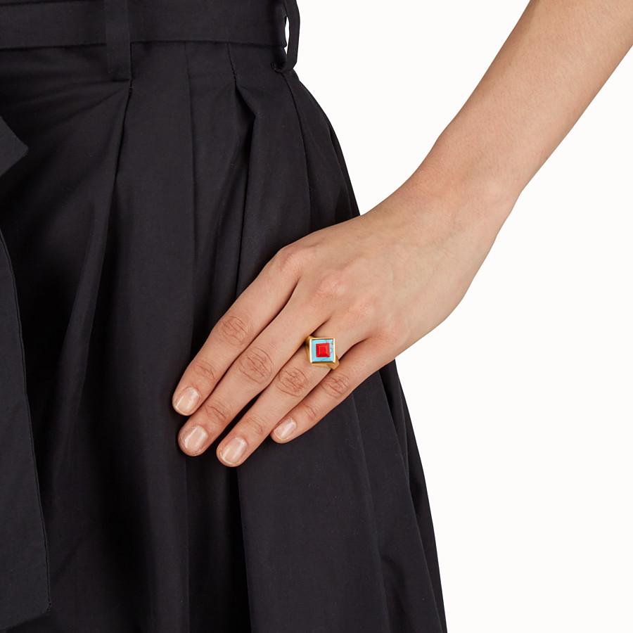 FENDI RAINBOW RING - Rainbow-Ring aus Metall und Stein - view 2 detail