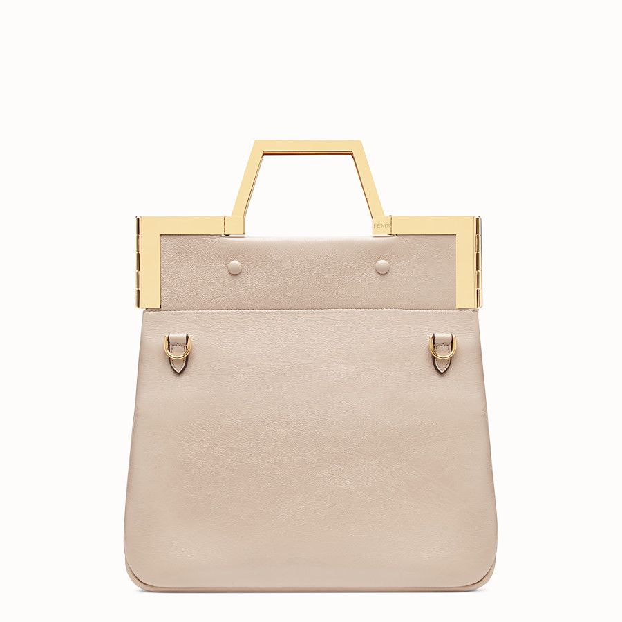 FENDI SMALL FLAT SHOPPING BAG - Pink leather shopper - view 5 detail