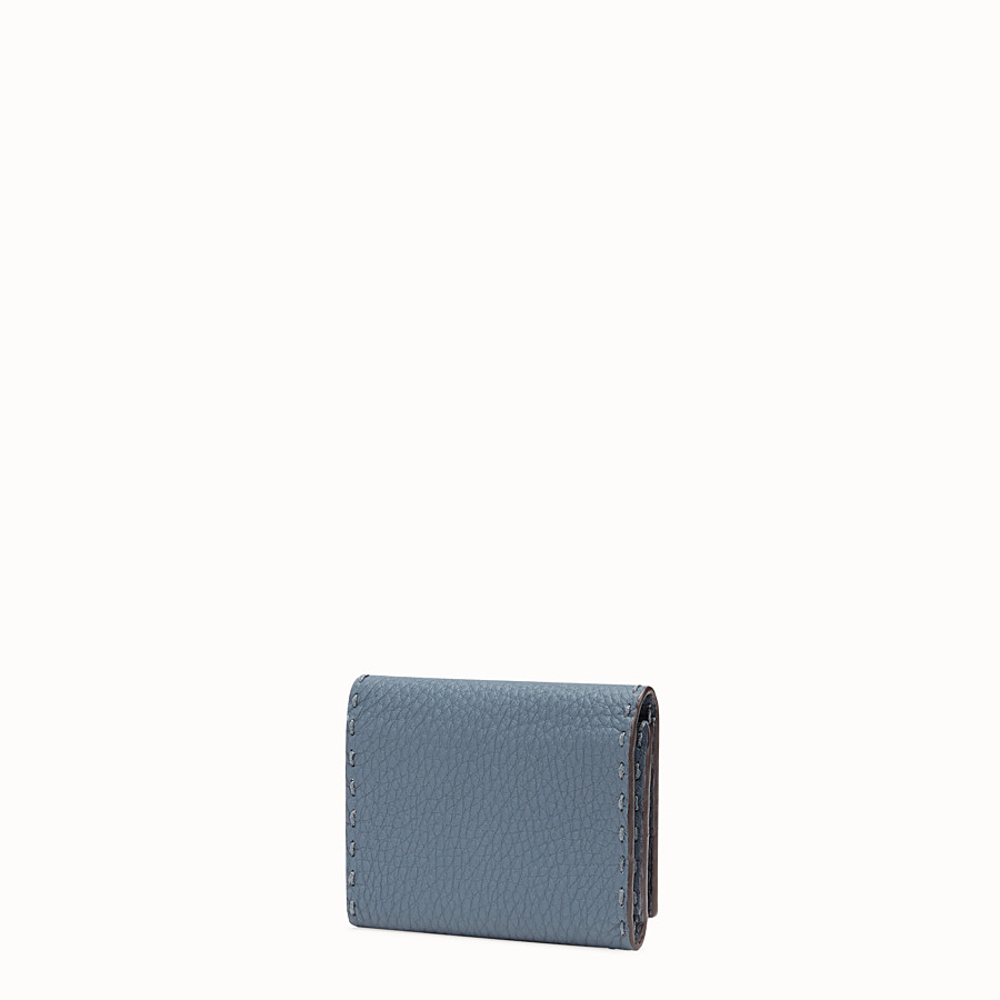 FENDI CARD HOLDER - Blue leather business card holder - view 2 detail