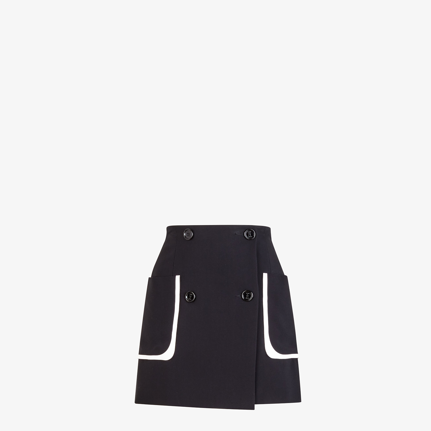 FENDI SKIRT - Black cady skirt - view 1 detail
