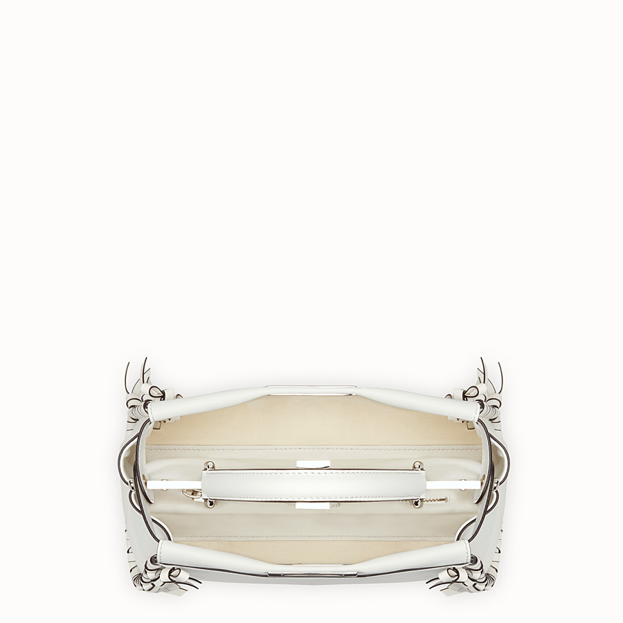 FENDI PEEKABOO REGULAR - White leather bag - view 4 detail