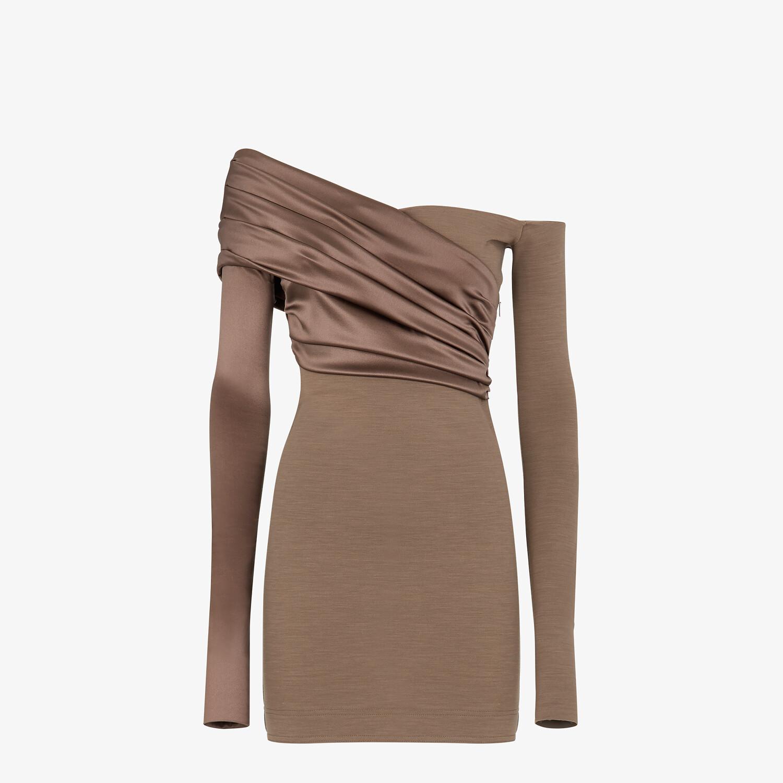 FENDI DRESS - Brown jersey dress - view 1 detail