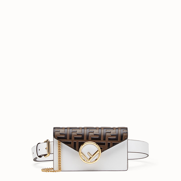 FENDI BELT BAG - White leather belt bag - view 1 small thumbnail