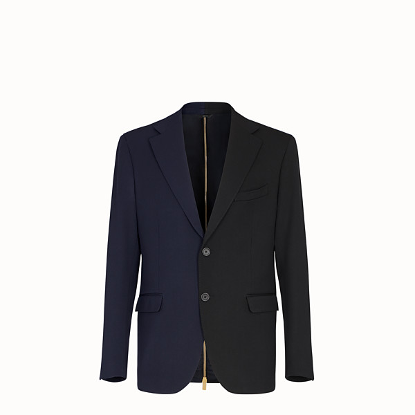 FENDI JACKET - Multicolour gabardine blazer - view 1 small thumbnail