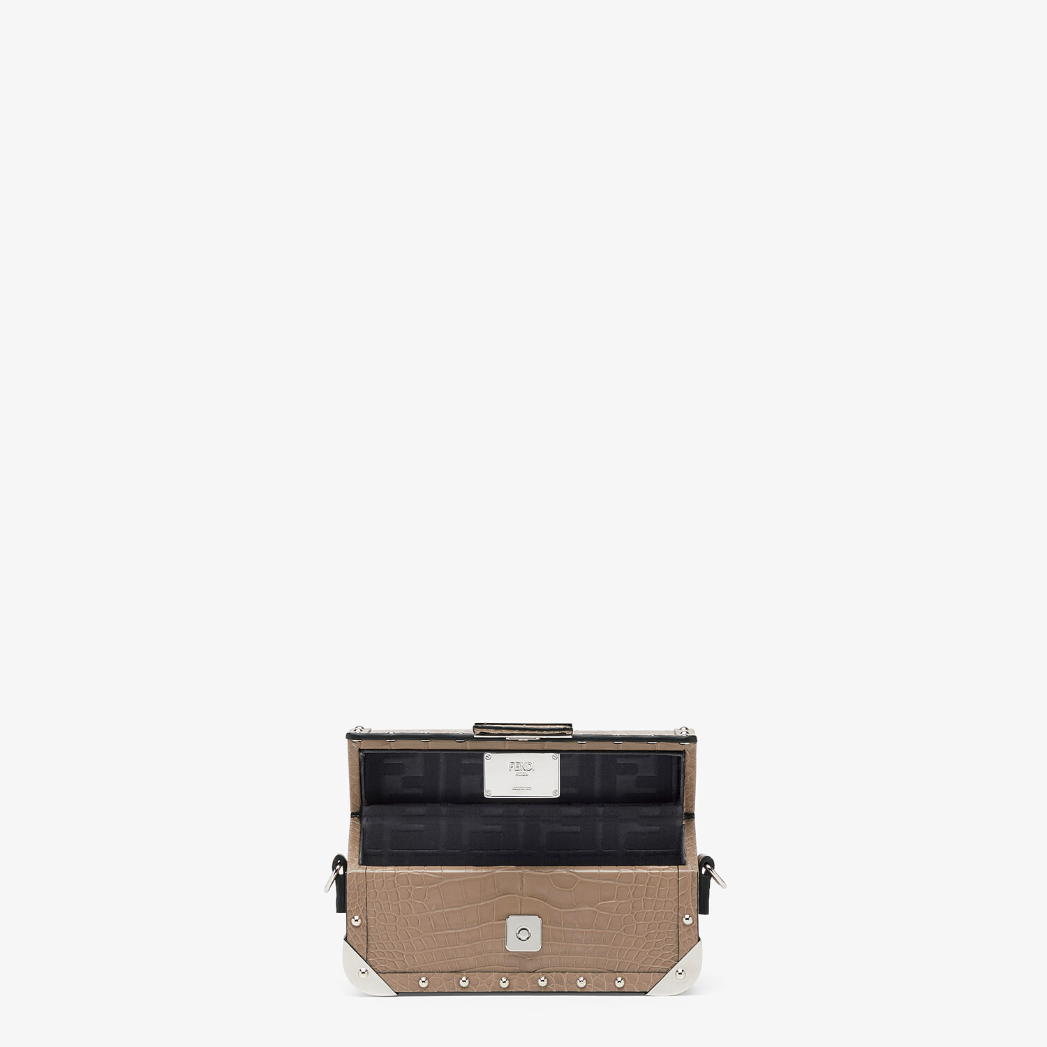 FENDI BAGUETTE TRUNK MINI - Beige alligator leather bag - view 4 detail