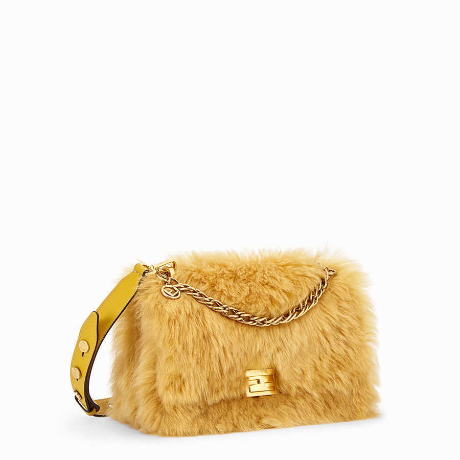 FENDI KAN U - Yellow sheepskin bag - view 2 detail