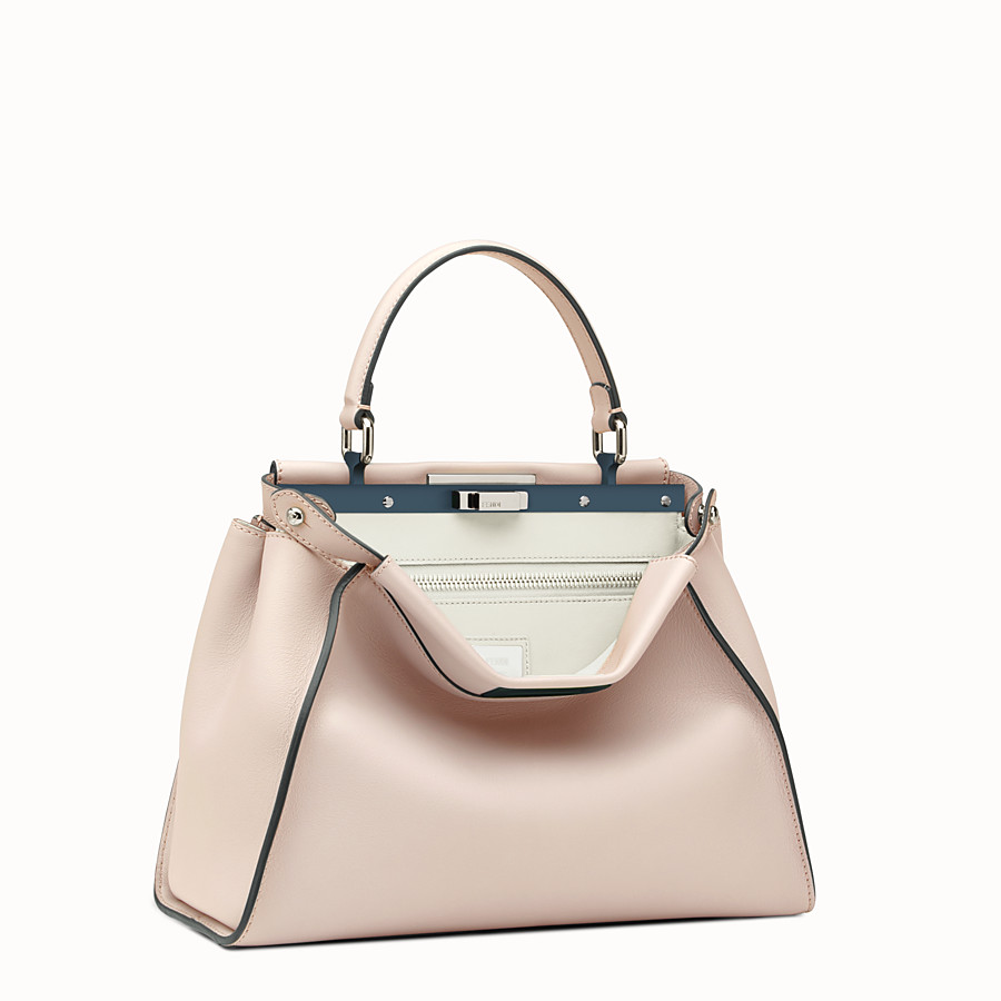 FENDI PEEKABOO REGULAR - Pink leather bag - view 2 detail