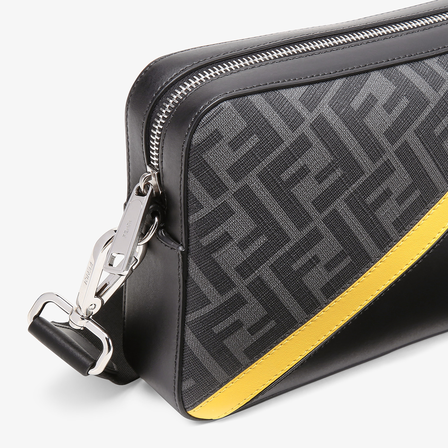FENDI CAMERA CASE - Gray fabric bag - view 5 detail
