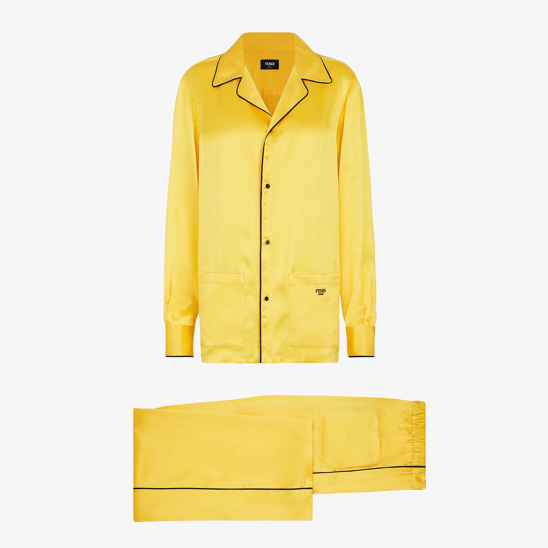 FENDI PAJAMAS - Yellow silk pajamas - view 1 detail