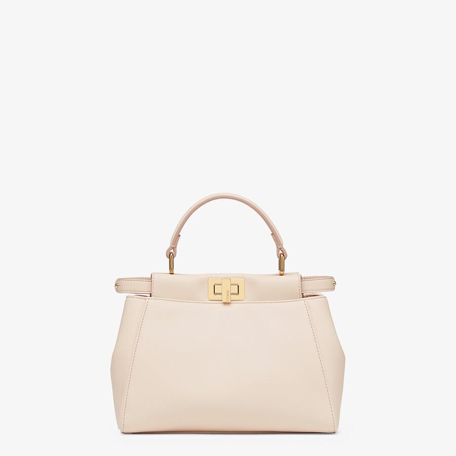 FENDI ICONIC PEEKABOO MINI - Pink nappa leather bag - view 1 detail