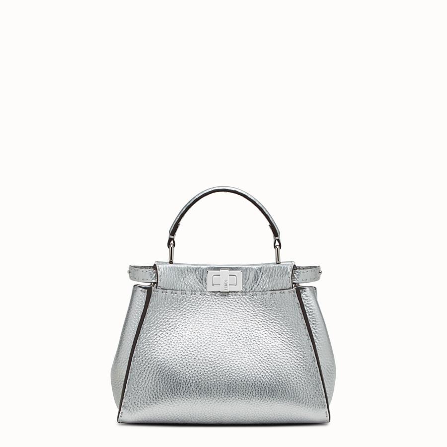 FENDI PEEKABOO MINI - Silver Roman leather mini handbag - view 1 detail