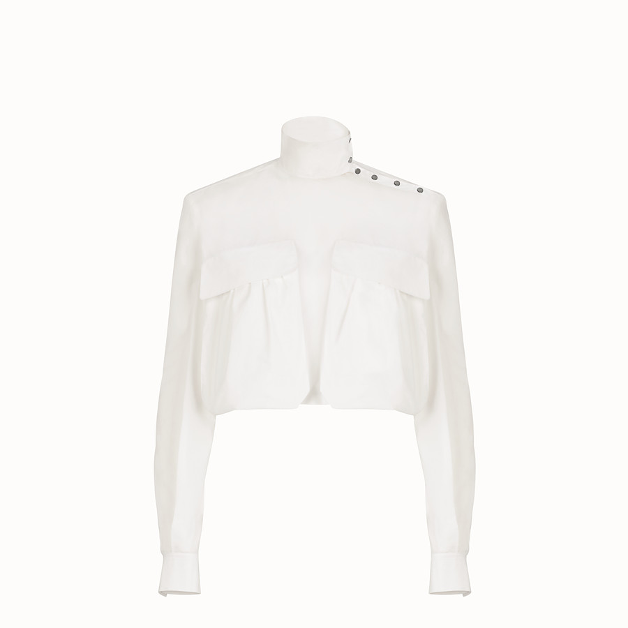 FENDI BLOUSE - White cotton blouse - view 1 detail