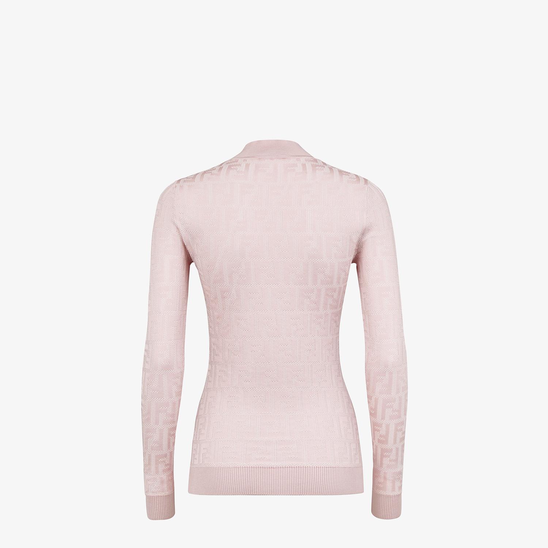 FENDI JUMPER - Pink cotton and viscose jumper - view 2 detail