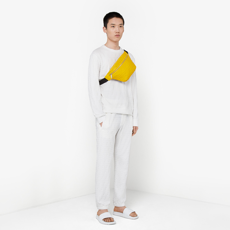 FENDI BELT BAG - Yellow nappa leather belt bag - view 6 detail
