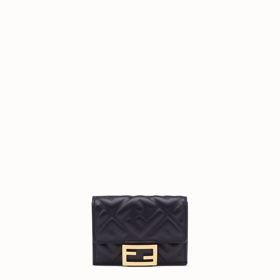 FENDI MICRO TRIFOLD - Black nappa leather wallet - view 1 detail
