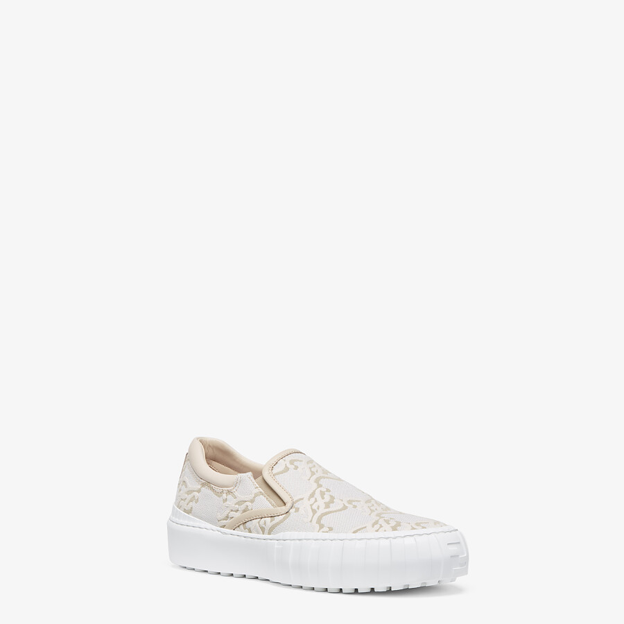 FENDI FENDI FORCE - White fabric sneakers - view 2 detail