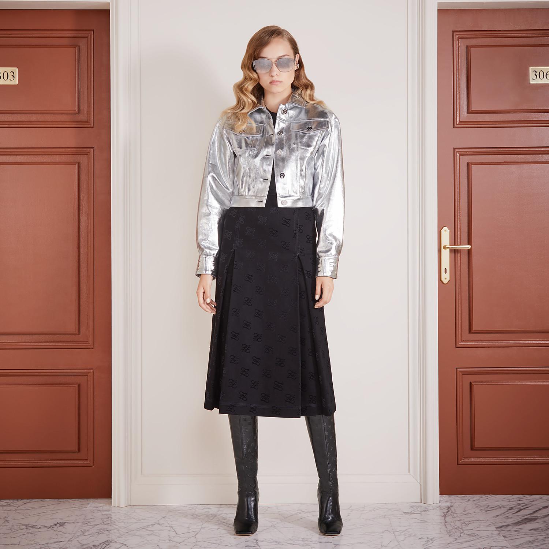 FENDI SKIRT - Black denim skirt - view 4 detail