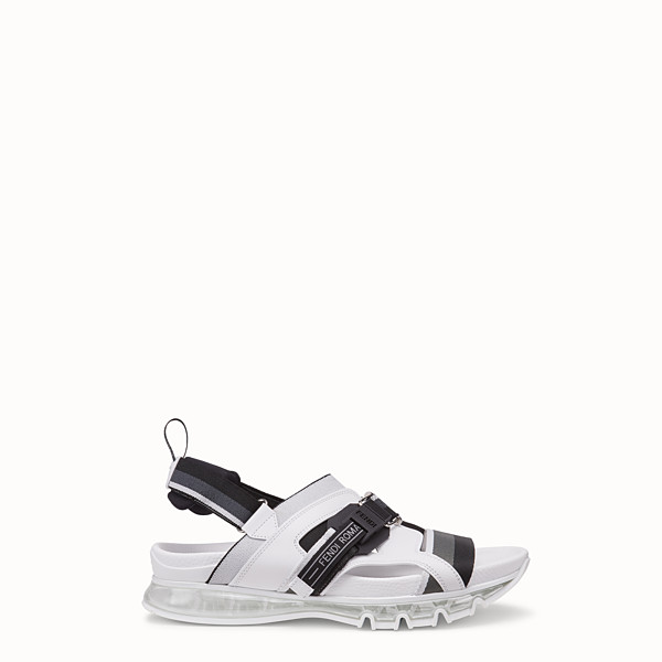 FENDI SANDALS - PU and white leather sandals - view 1 small thumbnail