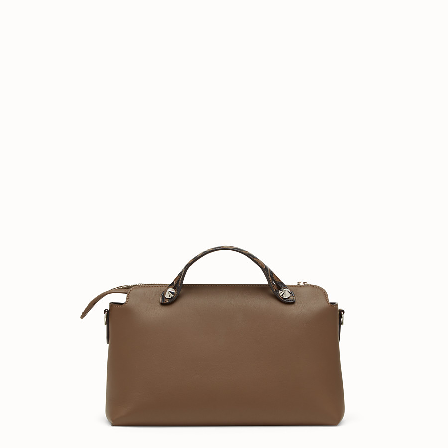 FENDI BY THE WAY REGULAR - Brown leather Boston bag - view 3 detail