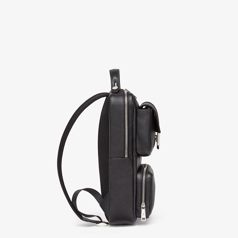 FENDI BACKPACK - Black calfskin backpack - view 2 detail
