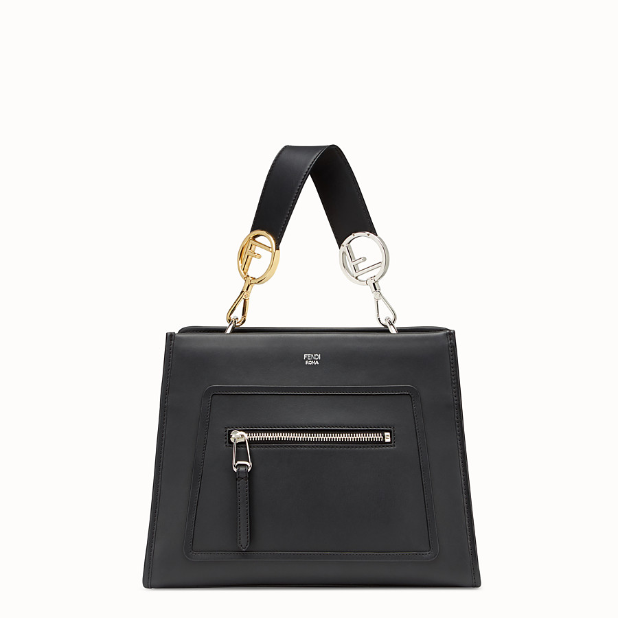 FENDI RUNAWAY SMALL - Black leather bag - view 1 detail