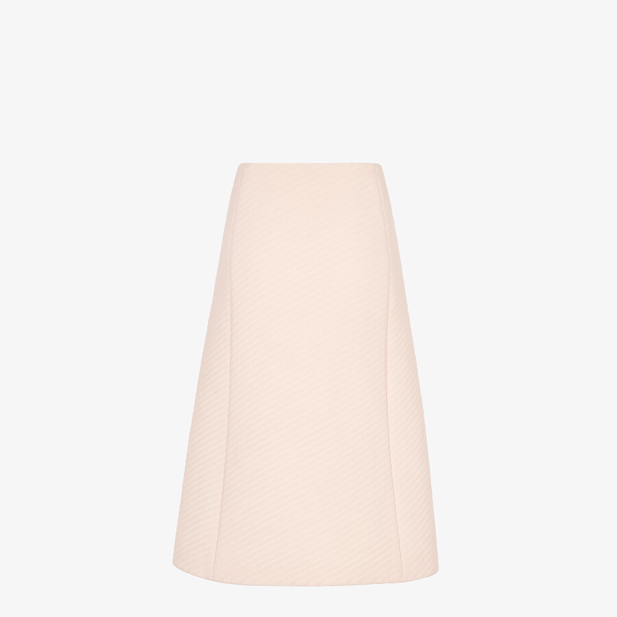 FENDI SKIRT - Pink Crêpe de Chine skirt - view 2 detail