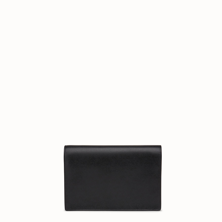 FENDI WALLET ON CHAIN - Black leather mini-bag - view 3 detail