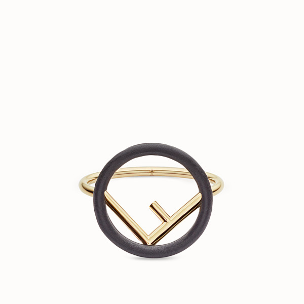 FENDI F IS FENDI BRACELET - Black and gold bracelet - view 1 small thumbnail