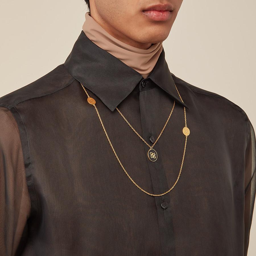 FENDI NECKLACE - Golden metal necklace - view 2 detail