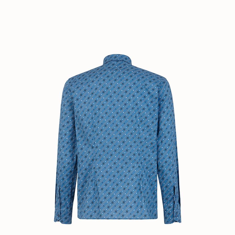 FENDI SHIRT - Blue cotton shirt - view 2 detail