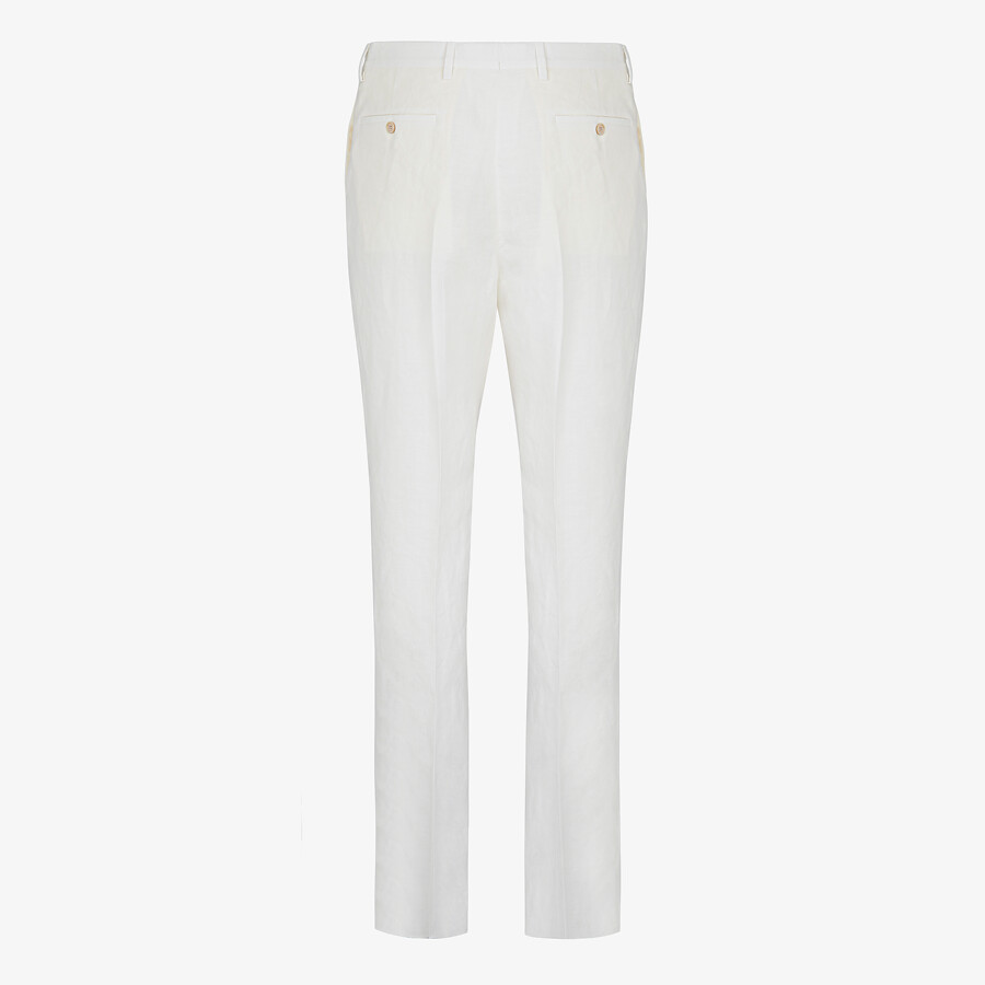FENDI PANTS - Natural hemp fabric pants - view 2 detail