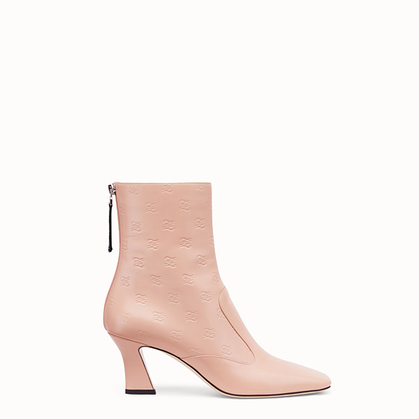 FENDI STIEFEL - Stiefelette aus Leder in Rosa - view 1 small thumbnail
