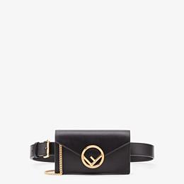 FENDI BELT BAG - Black leather belt bag - view 1 thumbnail