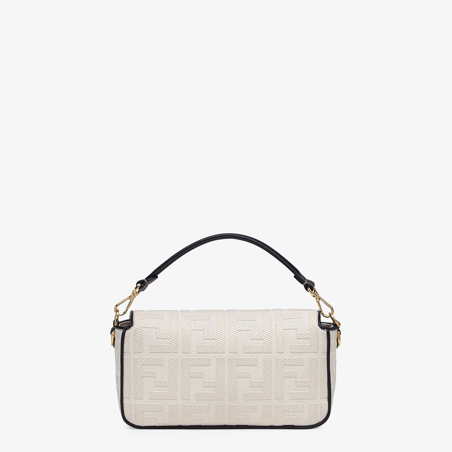 FENDI BAGUETTE - White canvas bag - view 3 detail