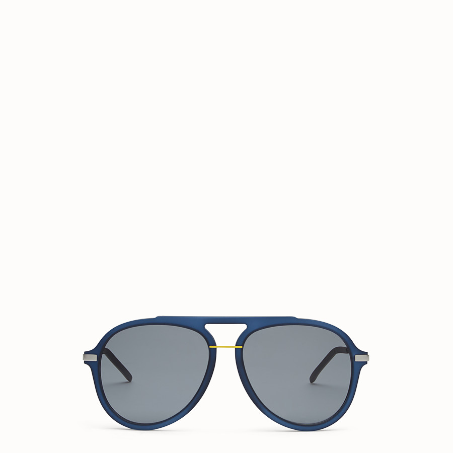 FENDI FENDI FANTASTIC - Blue satin-finish sunglasses - view 1 detail