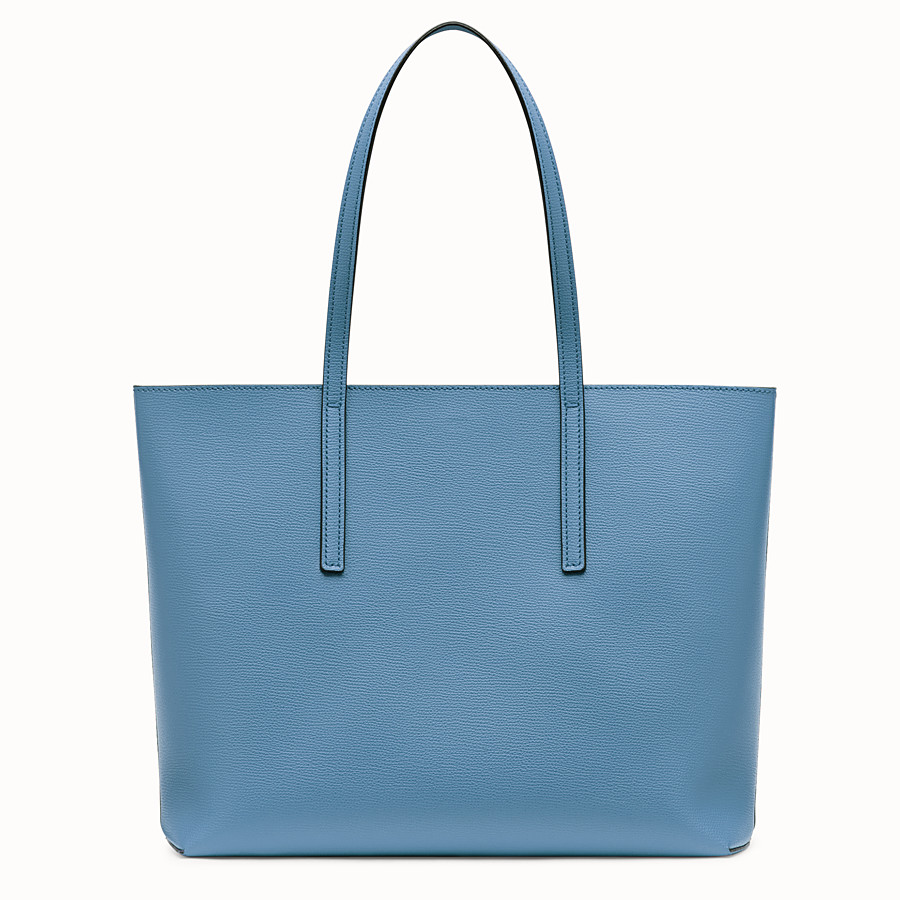 FENDI SHOPPING LOGO - Shopper in pelle blu - vista 3 dettaglio