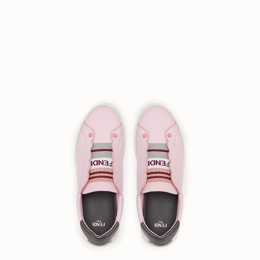 FENDI SNEAKER - Sneaker aus violettem Leder - view 4 detail