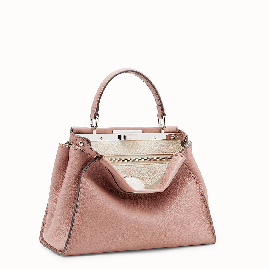 FENDI PEEKABOO REGULAR - Tasche aus Leder in Rosa - view 2 detail