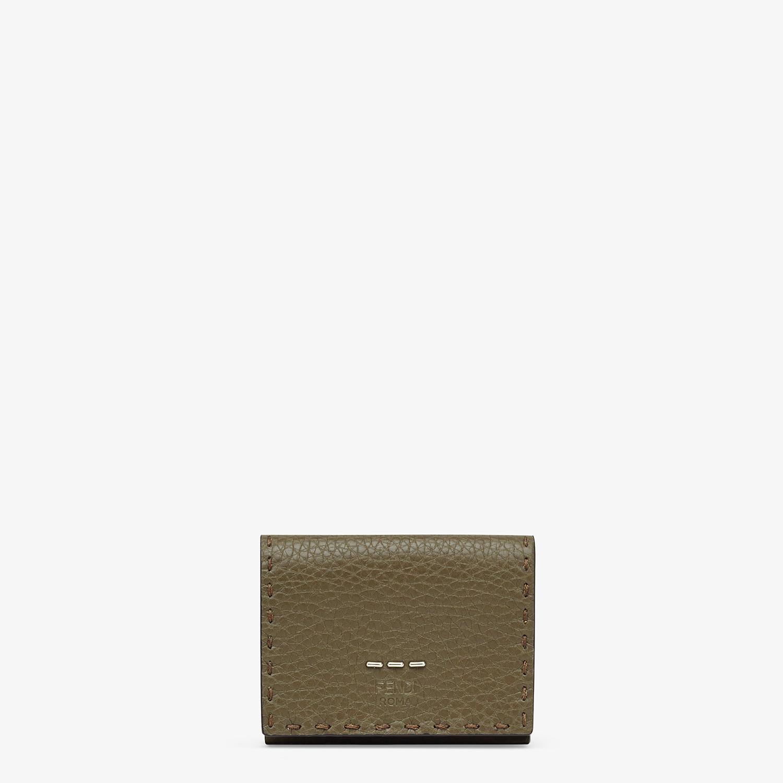 FENDI WALLET - Green leather tri-fold wallet - view 1 detail