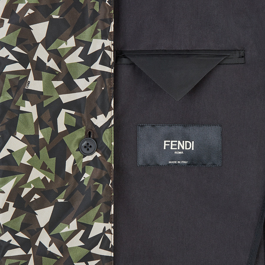 FENDI JACKET - Black cotton blazer - view 5 detail