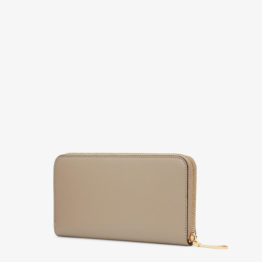 FENDI ZIP-AROUND - Beige leather wallet - view 2 detail