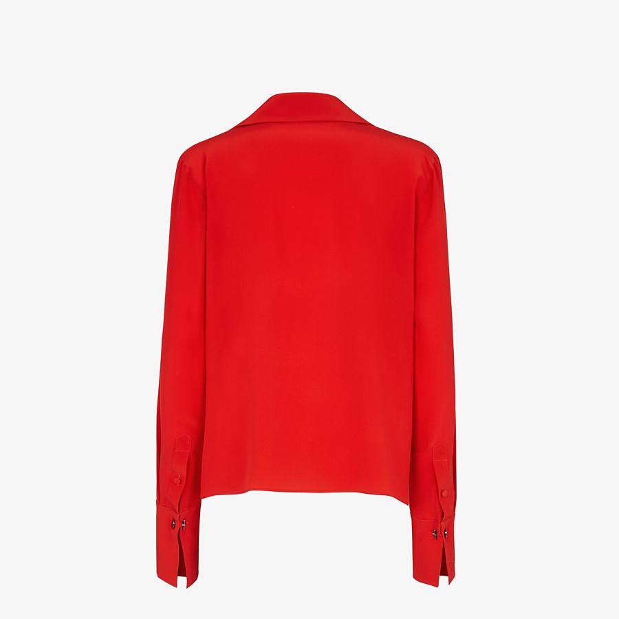 FENDI SHIRT - Red crêpe de Chine blouse - view 2 detail