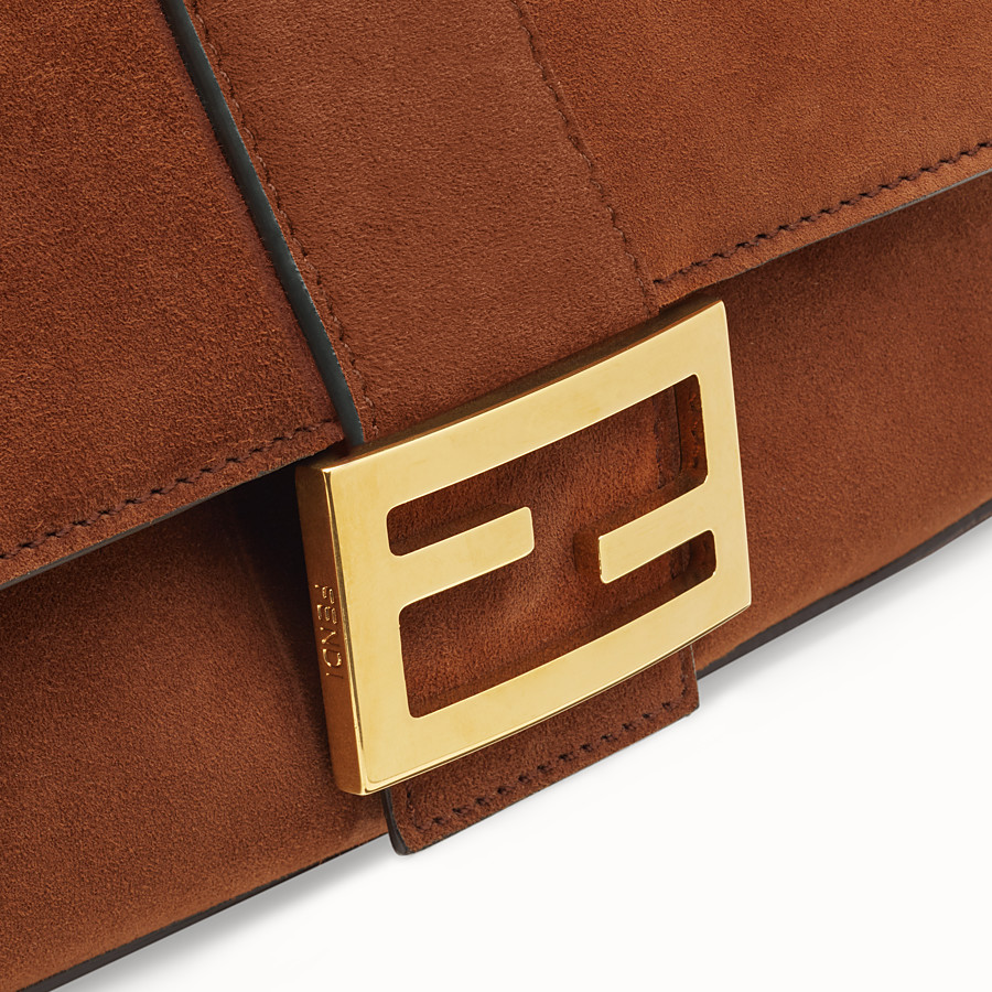 FENDI BAGUETTE - Brown suede bag - view 6 detail