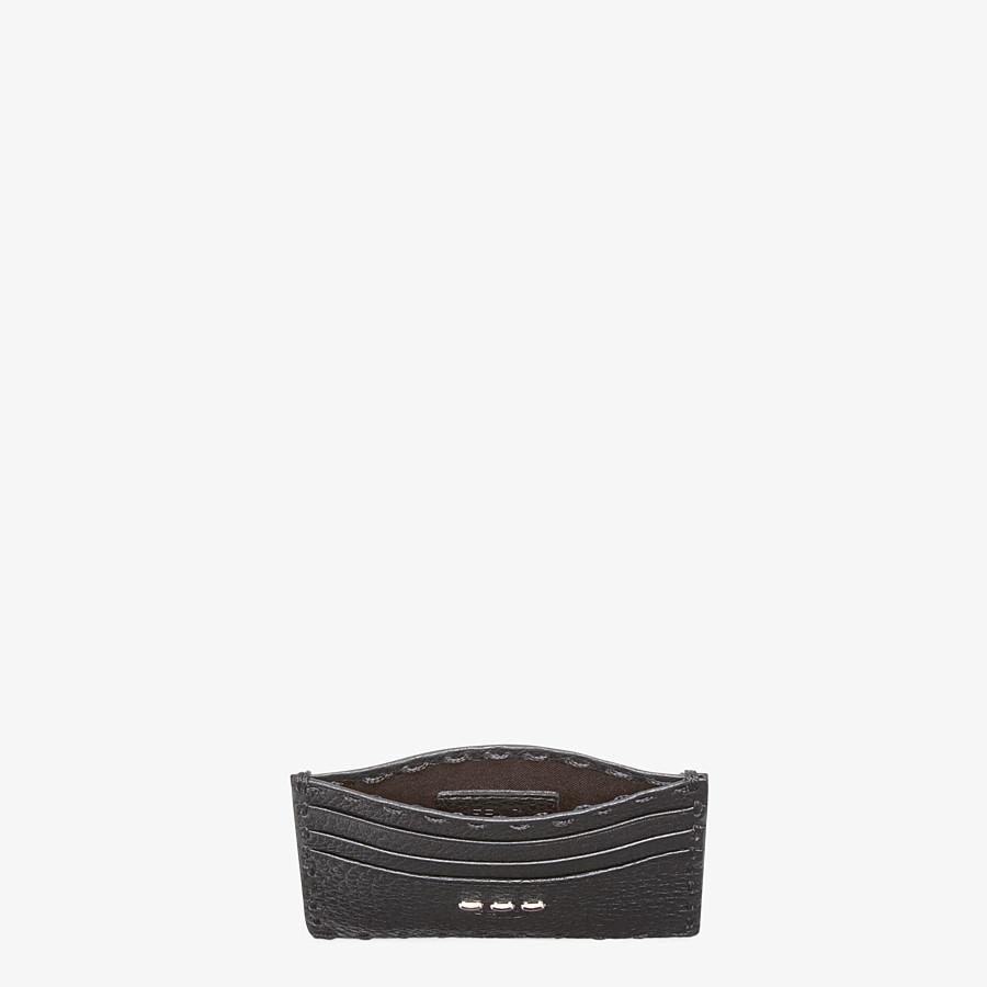FENDI CARD HOLDER - Selleria 6-slot card holder in black - view 3 detail