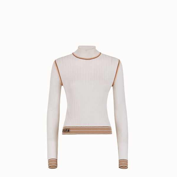 FENDI SWEATER - White silk sweater - view 1 small thumbnail