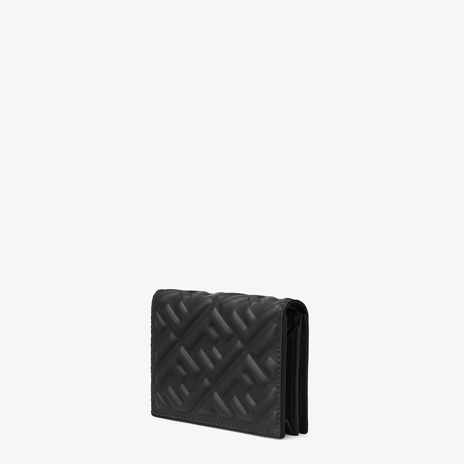 FENDI SMALL WALLET - Black nappa leather wallet - view 2 detail