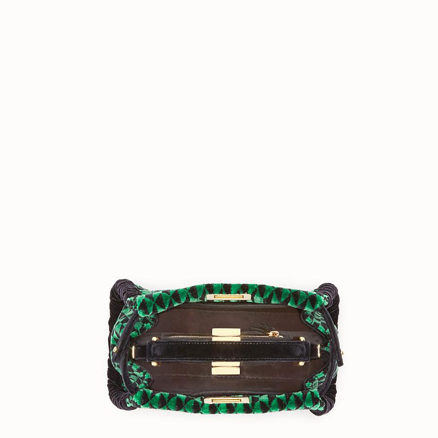 FENDI 迷你PEEKABOO - 綠色和黑色布料手提包 - view 4 detail