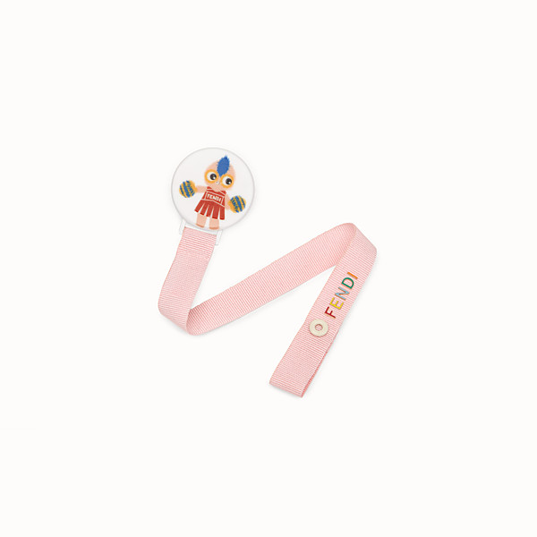FENDI PACIFIER CLIP - Baby girl's pink polyester dummy clip - view 1 small thumbnail