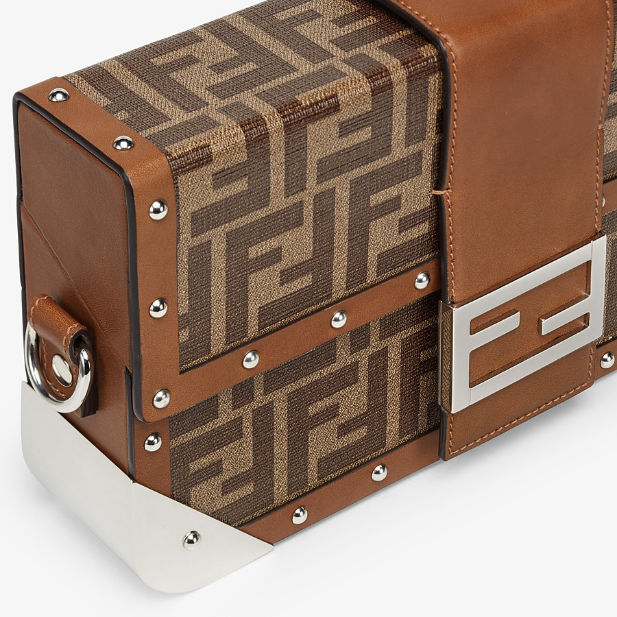 FENDI BAGUETTE TRUNK MEDIUM - Brown fabric bag - view 5 detail
